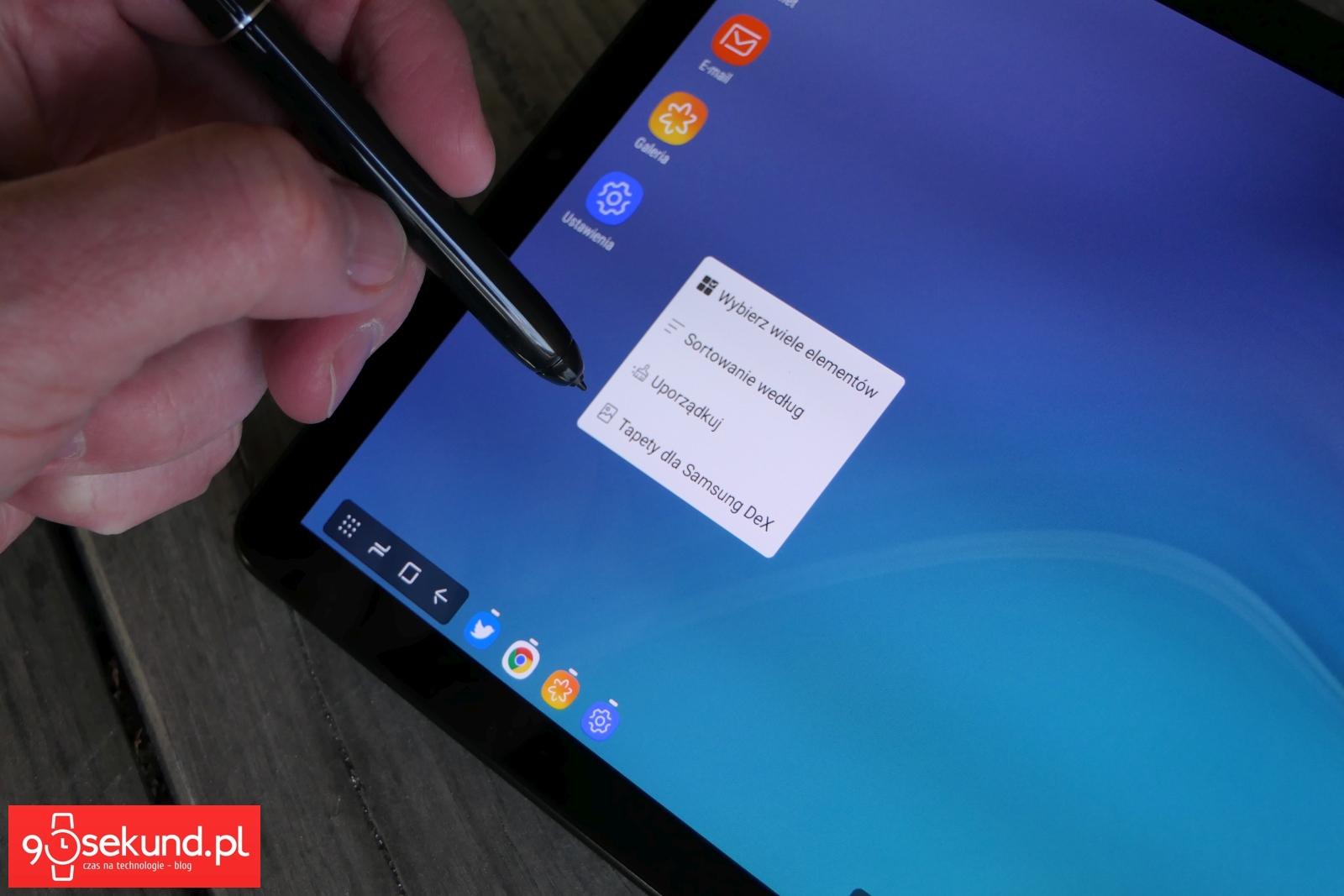 Recenzja tabletu Samsung Galaxy Tab S4 - Michał Brożyński - 90sekund.pl