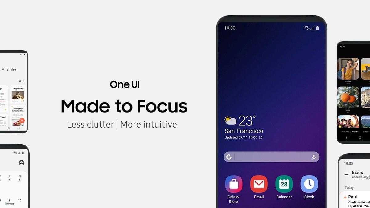 Obsługa One UI - nowego interfejsu Samsunga - fot. Samsung