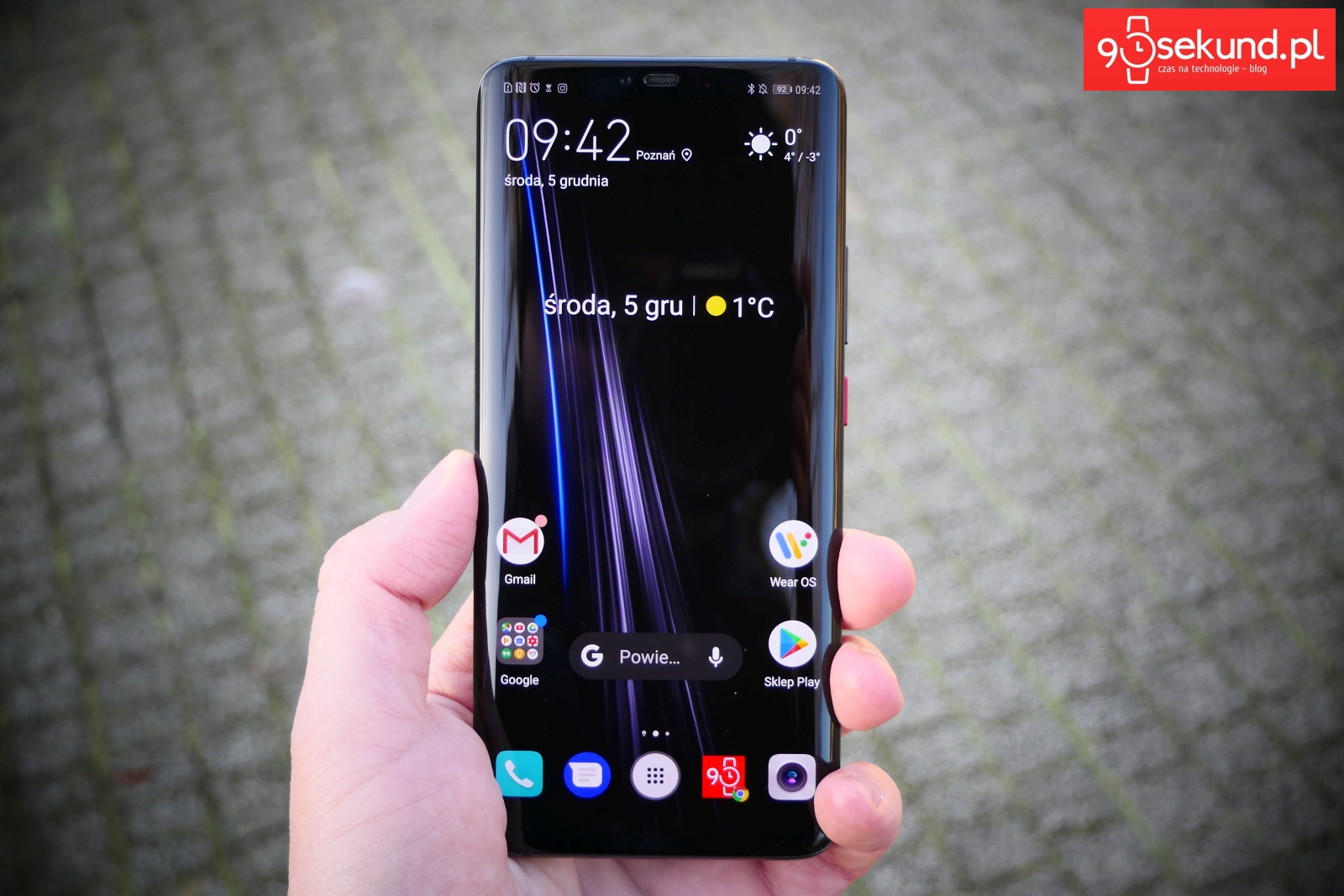 Recenzja Huawei Mate 20 Pro - Michał Brożyński - 90sekund.pl