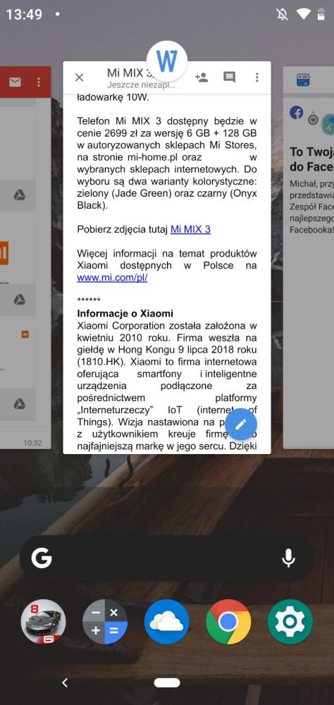 Wygląd systemu w Androidzie 9 Pie na Motoroli One - Michał Brożyński - 90sekund.pl