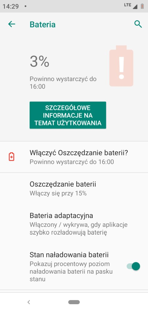 Działanie baterii w Motoroli One - Michał Brożyński - 90sekund.pl