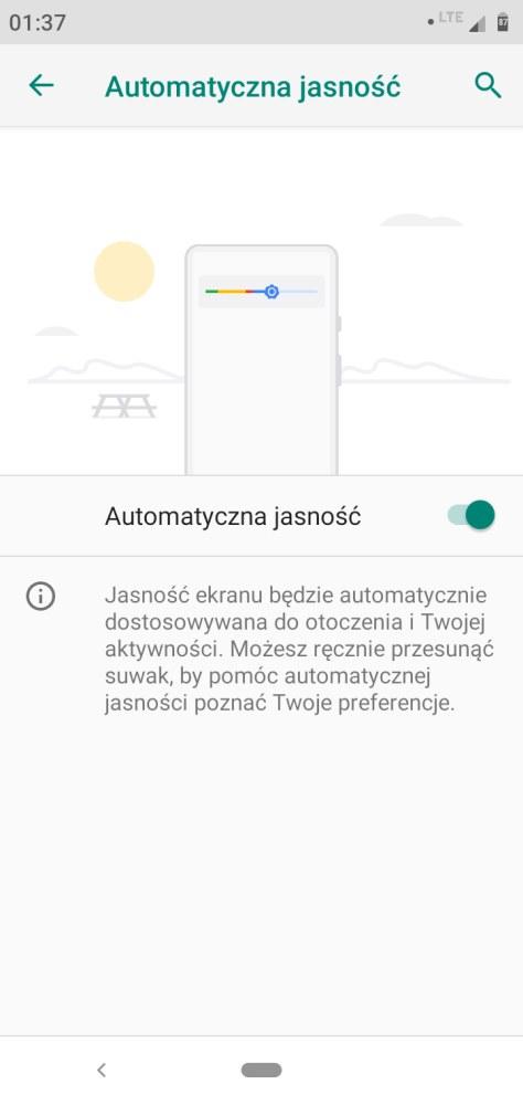 Automatyczne sterowanie jasnością w Motoroli One - Michał Brożyński - 90sekund.pl