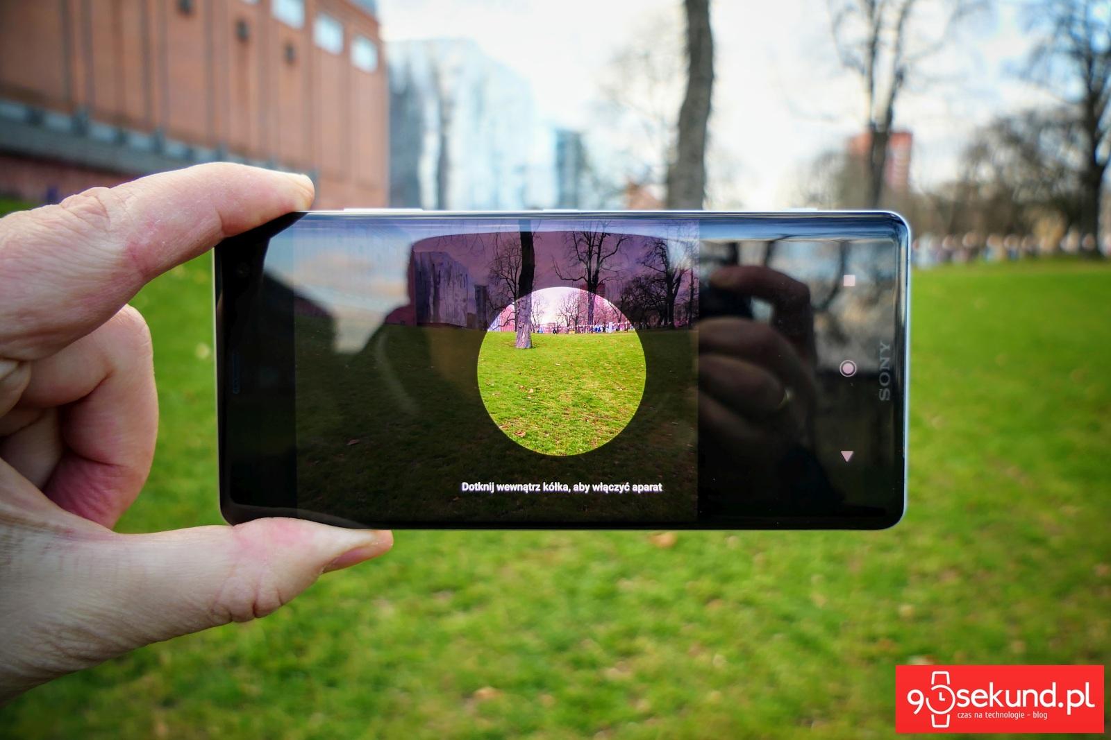 Funkcja Smart Launch Sony Xperia XZ3 - Michał Brożyński 90sekund.pl