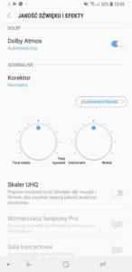 Ustawienia muzyczne w Galaxy A7 2018 - Michał Brożyński 90sekund.pl