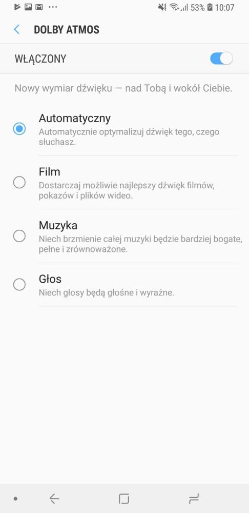 Dolby Atmos w Galaxy A7 2018 - Michał Brożyński 90sekund.pl