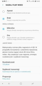 Game Launcher i Game Tools w Galaxy A7 2018 - Michał Brożyński 90sekund.pl
