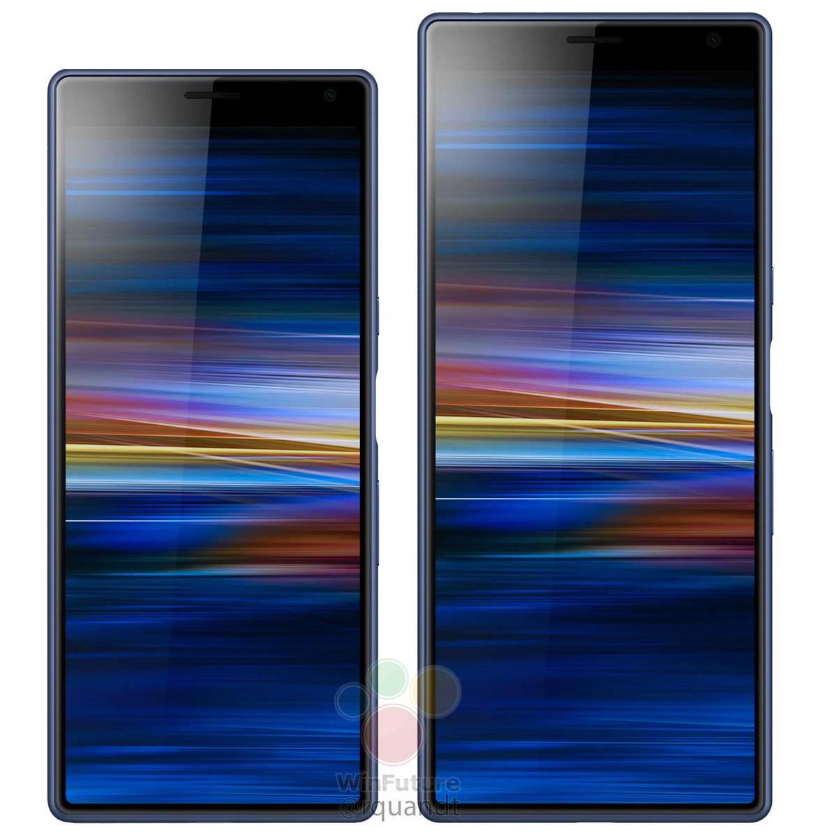 Tak ma wyglądać Sony Xperia 10 (mniejsza) i Xperia 10 Plus (większa)