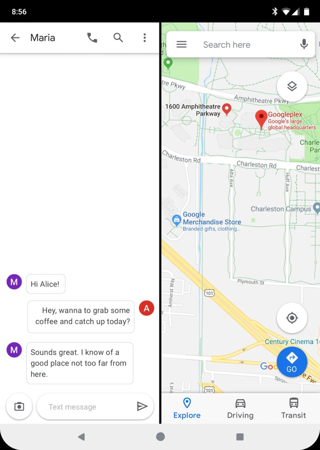 Android 10 Q będzie wspierał składane smartfony - fot. Google