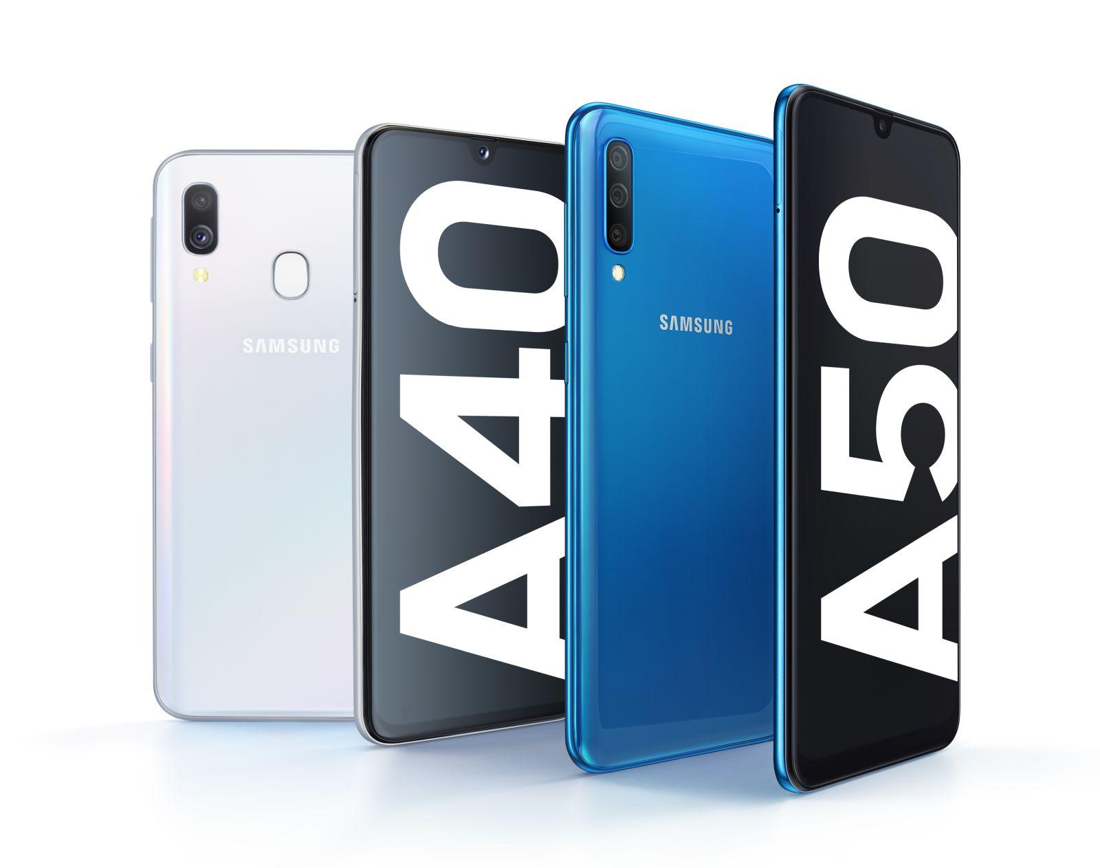 Samsung Galaxy A40 i Galaxy A50 - fot. mat. pras.