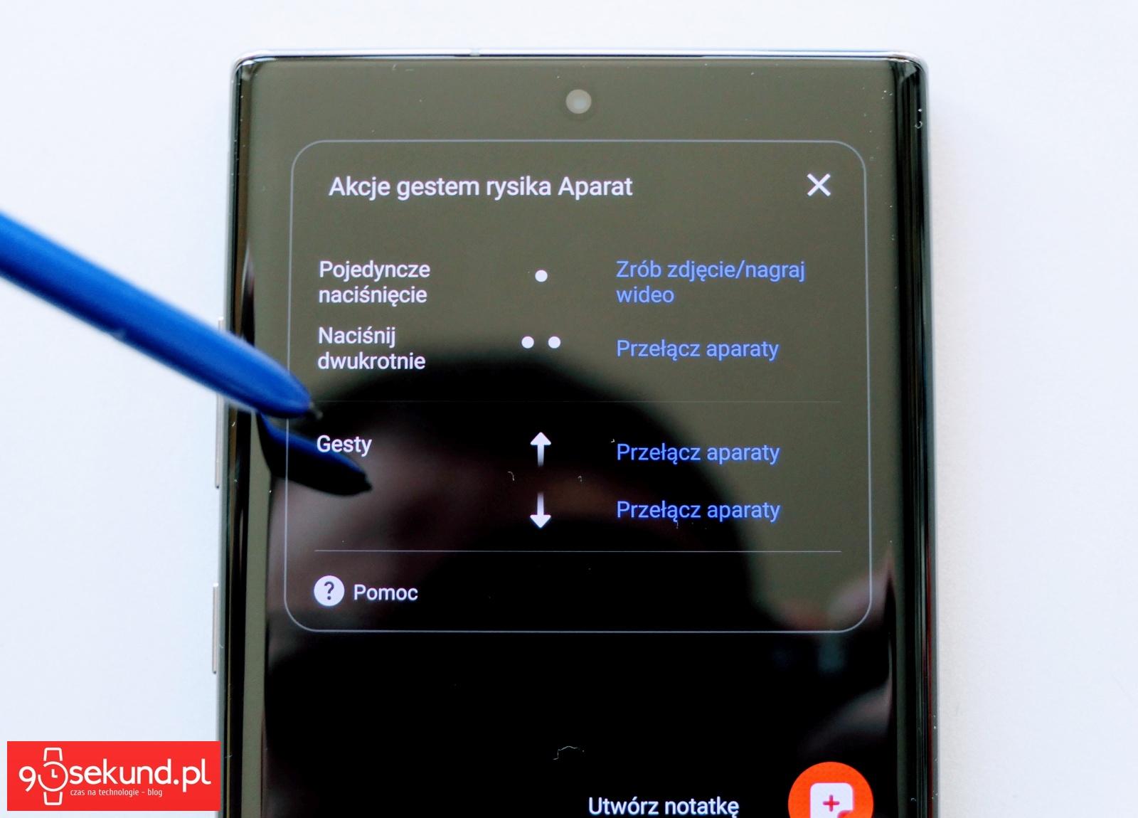 Samsung Galaxy Note 10+ - Michał Brożyński - 90sekund.pl